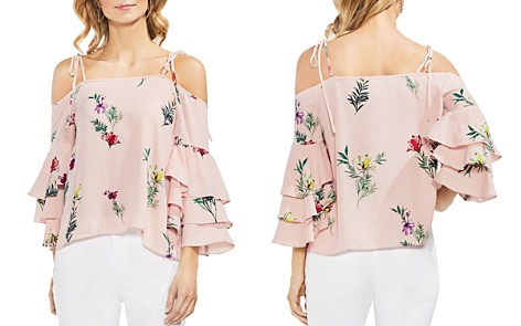VINCE CAMUTO Floral Tiered Ruffle-Sleeve Top - Bloomingdale's_2