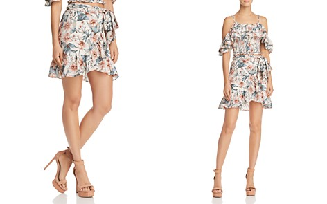 JOA Ruffled Floral Faux-Wrap Skirt - Bloomingdale's_2