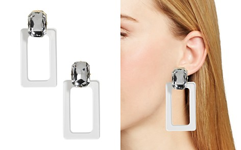 BAUBLEBAR Luza Faceted Lucite Rectangle Drop Earrings - Bloomingdale's_2