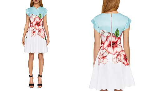 Ted Baker Maevea Nectar Scalloped Skater Dress - Bloomingdale's_2