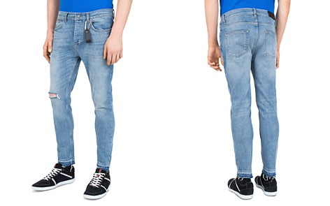 The Kooples Short Skinny & Destroys Slim Fit Jeans in Blue - Bloomingdale's_2