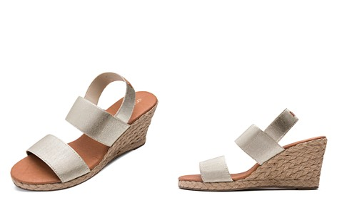 Andre Assous Women's Allison Stretch Strap Mid Wedge Espadrille Sandals - Bloomingdale's_2