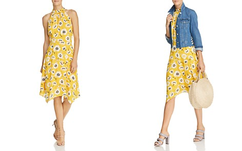 Adrianna Papell Mock-Neck Floral Dress - Bloomingdale's_2