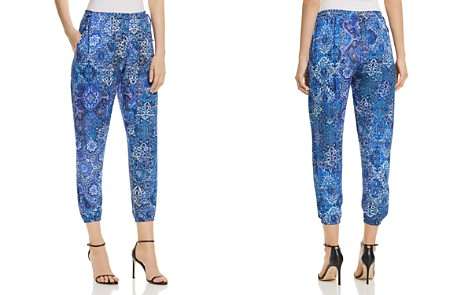 Elie Tahari Heather Tile-Print Jogger Pants - Bloomingdale's_2