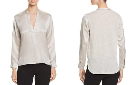 Majestic Filatures Silk & Linen V-Neck Top - Bloomingdale's_2