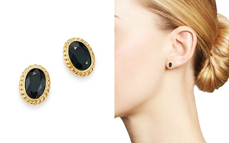 Bloomingdale's Blue Sapphire Oval Stud Earrings in 14K Yellow Gold - 100% Exclusive_2