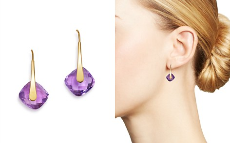 Bloomingdale's Amethyst Faceted Drop Earrings in 14K Yellow Gold - 100% Exclusive _2