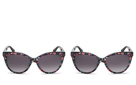 kate spade new york Daesha Floral Gradient Round Sunglasses, 56mm - Bloomingdale's_2