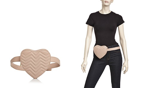 Maje Quilted Leather Heart Belt Bag - Bloomingdale's_2