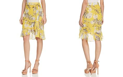 Lucy Paris Floral Print Faux-Wrap Skirt - Bloomingdale's_2