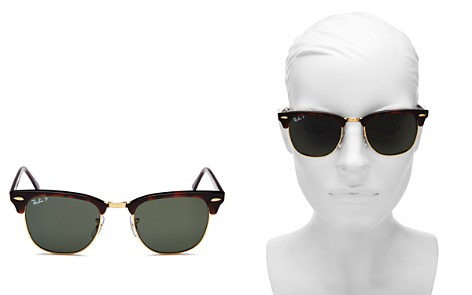 Ray-Ban Clubmaster Polarized Sunglasses, 51mm - Bloomingdale's_2