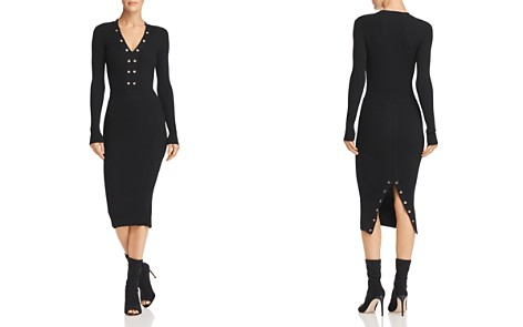 McQ Alexander McQueen Grommeted Knit Dress - Bloomingdale's_2