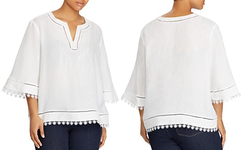 Lauren Ralph Lauren Plus Embroidered Linen Top - Bloomingdale's_2