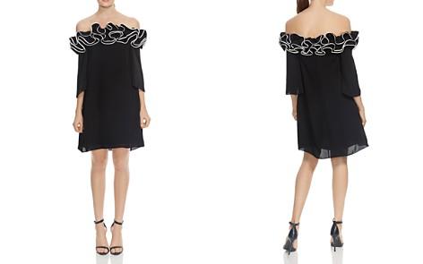 HALSTON HERITAGE Ruffled Off-the-Shoulder Dress - Bloomingdale's_2