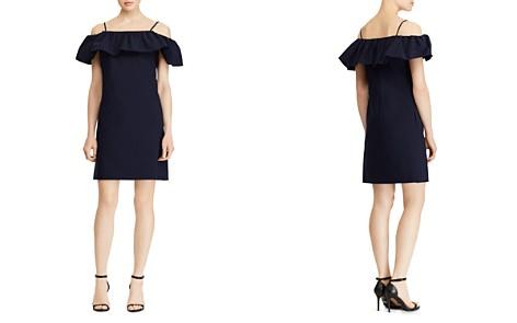 Lauren Ralph Lauren Ruffled Cold-Shoulder Crepe Dress - Bloomingdale's_2