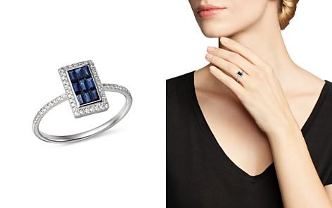 KC Designs 14K White Gold Mosaic Illusion Sapphire & Diamond Ring - Bloomingdale's_2