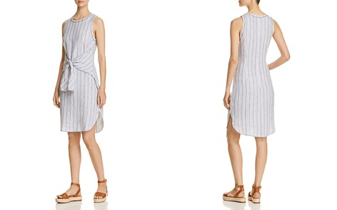 Three Dots Striped Linen Tie-Front Dress - Bloomingdale's_2