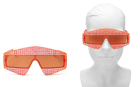 Gucci Embellished Mirrored Rectangular Shield Sunglasses, 99 mm - Bloomingdale's_2