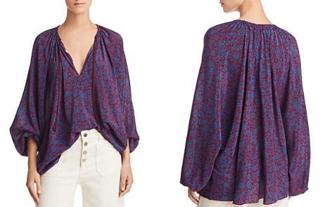 Elizabeth and James Chance Printed Silk Top - Bloomingdale's_2