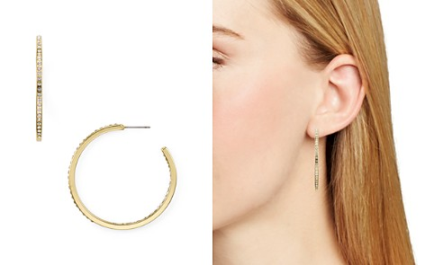 AQUA Pavé Encrusted Hoop Earrings - 100% Exclusive - Bloomingdale's_2