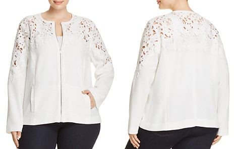 Bagatelle Plus Crochet Panel Jacket - 100% Exclusive - Bloomingdale's_2