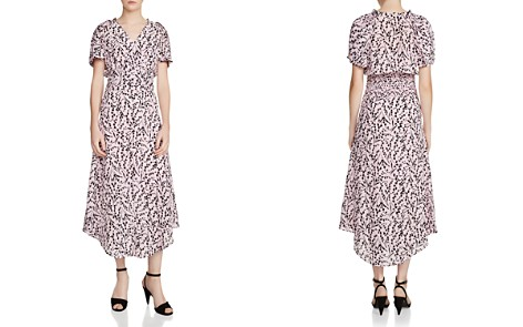 Maje Rivara Floral Print Silk Midi Dress - Bloomingdale's_2