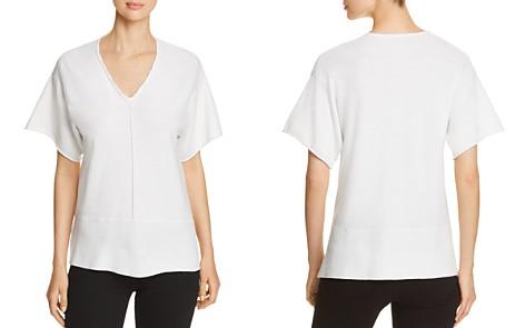 Donna Karan New York Short-Sleeve V-Neck Top - Bloomingdale's_2