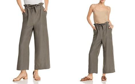 Rebecca Taylor Tie-Front Wide-Leg Slub Pants - Bloomingdale's_2