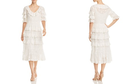 Rebecca Taylor Dree Ruffled Eyelet Crepe Midi Dress - Bloomingdale's_2