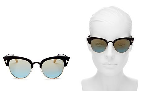 Tom Ford Alexandra Mirrored Cat Eye Sunglasses, 51mm - Bloomingdale's_2