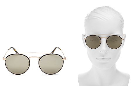 Oliver Peoples Women's Ellice Mirrored Brow Bar Round Sunglasses, 50mm - Bloomingdale's_2