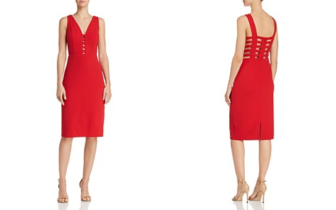 Laundry by Shelli Segal Caged Crepe Sheath Dress - 100% Exclusive - Bloomingdale's_2