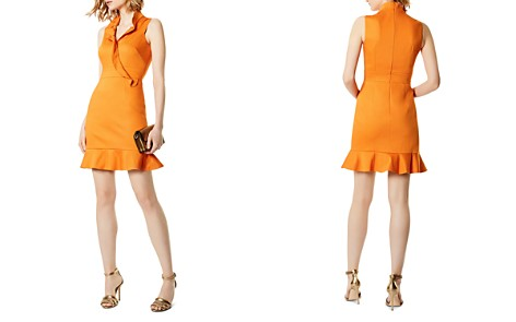 KAREN MILLEN Ruffled Crossover Dress - Bloomingdale's_2