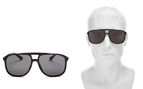 Gucci Brow Bar Round Sunglasses, 58mm - Bloomingdale's_2