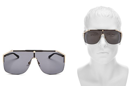Gucci Men's Rimless Shield Sunglasses, 142mm - Bloomingdale's_2