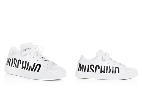 Moschino Women's Monochrome Logo Leather Lace Up Sneakers - Bloomingdale's_2