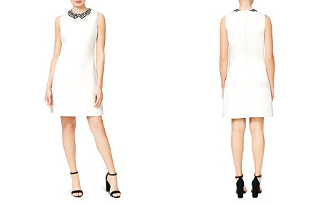 Betsey Johnson Embellished-Collar Scuba Crepe Shift Dress - Bloomingdale's_2