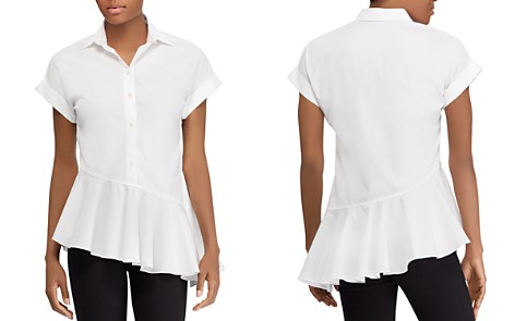 Lauren Ralph Lauren Short-Sleeve Asymmetrical-Ruffle Shirt - 100% Exclusive - Bloomingdale's_2