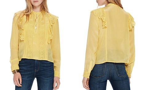 Scotch & Soda Eyelet Ruffle-Trim Top - Bloomingdale's_2