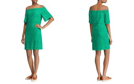 Lauren Ralph Lauren Cotton Eyelet Off-the-Shoulder Dress - Bloomingdale's_2