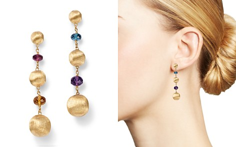 Marco Bicego 18K Yellow Gold Africa Color Multi Gemstone Bead Drop Earrings - 100% Exclusive - Bloomingdale's_2