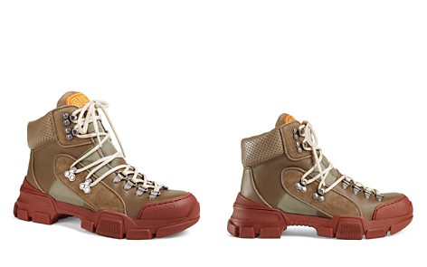 Gucci Women's Leather & Canvas Trekking Boots - Bloomingdale's_2