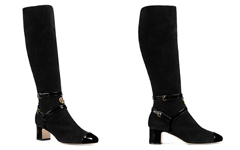 Gucci Women's Suede Mid Heel Tall Boots - Bloomingdale's_2