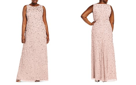Adrianna Papell Plus Beaded Gown - Bloomingdale's_2