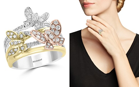 Bloomingdale's Diamond Butterfly Ring in 14K Rose, Yellow & White Gold, 0.80 ct. t.w. - 100% Exclusive_2