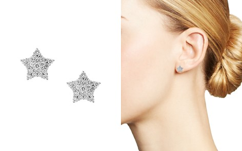 Bloomingdale's Diamond Star Stud Earrings in 14K White Gold, 0.35ct. t.w. - 100% Exclusive_2
