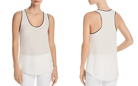 Theory Tipped Silk Tank - Bloomingdale's_2