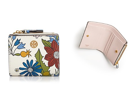 Tory Burch Robinson Mini Floral Leather Wallet - Bloomingdale's_2