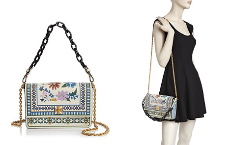 Tory Burch Kira Floral Leather Shoulder Bag - Bloomingdale's_2