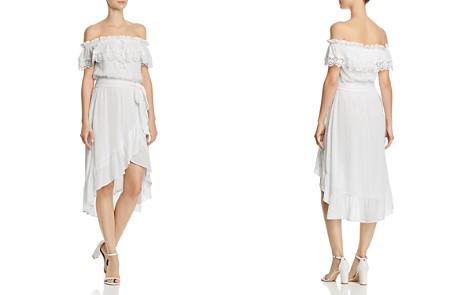 AQUA Swiss Dot Off-the-Shoulder Dress - 100% Exclusive - Bloomingdale's_2